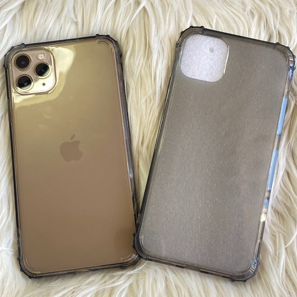 iPhone 11 Pro Max Black Clear Phone Case